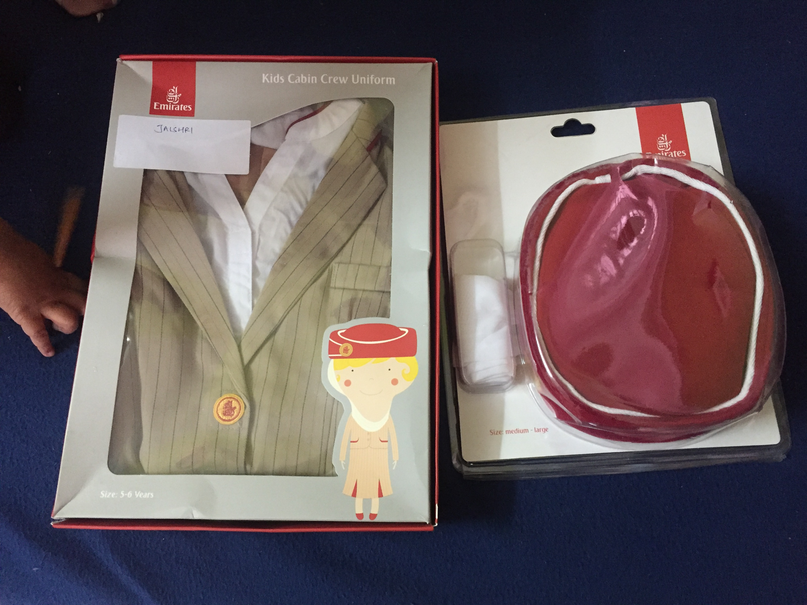 Emirates Cabin Crew And Pilot Uniform For Kids Mommyswall